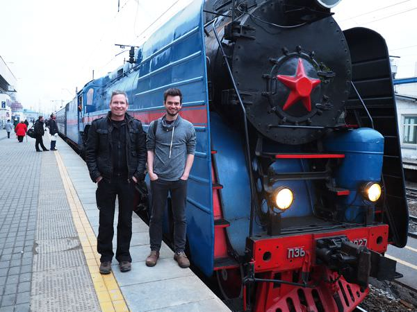 Russia by train: Pete and Flo