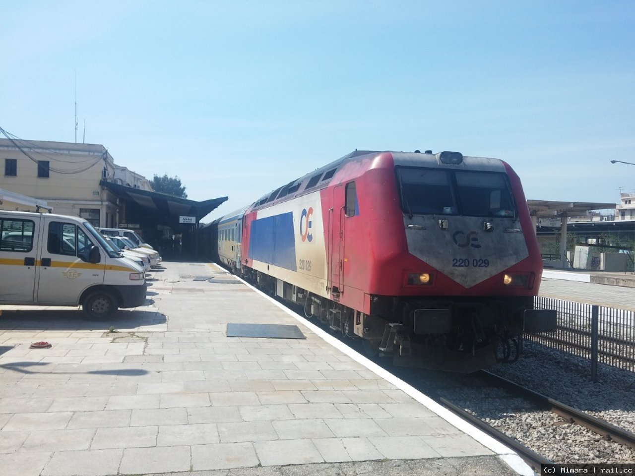 Train to Thessaloniki in Athen Larissa station