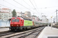 Intercidades (IC) train - IC from Guimaraes arrives in Lisboa Santa Apolonia
