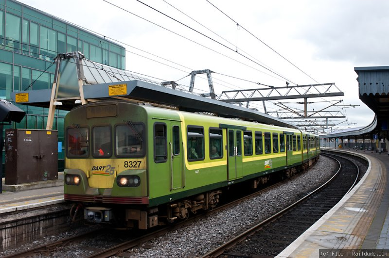 DART train in Connolly Station
