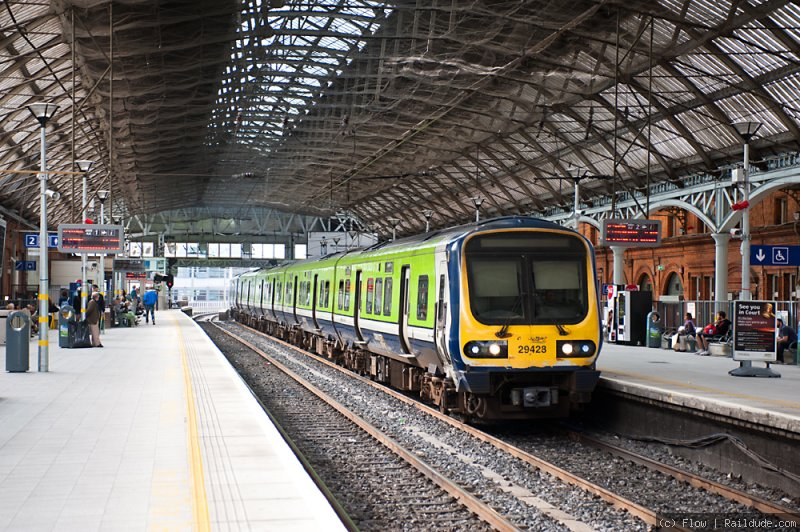 Commuter train in Pearse Station