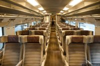 Eurostar (EST) train - 2nd class interior