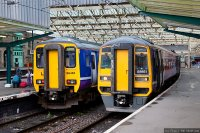 Northern Rail (NOR) train - Class 156 and Class 158 in Carlisle