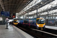 First TransPennine Express (FTPE) train - Class 185 at Leeds