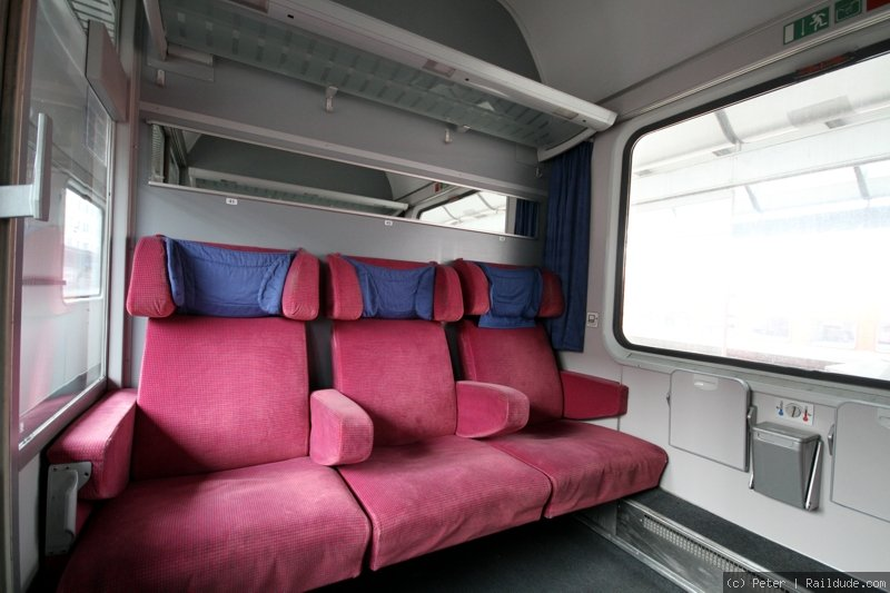 IC train, 1st class, 6-persons-compartement