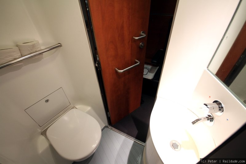 Toilet in Deluxe sleeper.