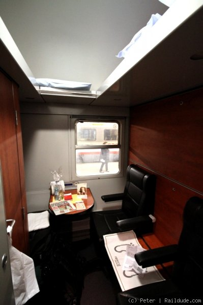 One or two person cabin in Deluxe sleeper.