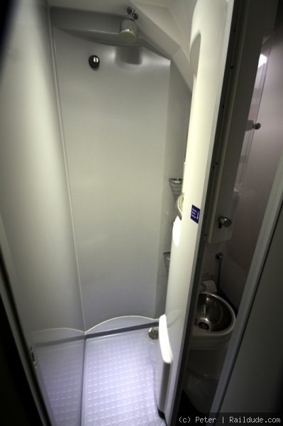 Shower in sleeper compartment