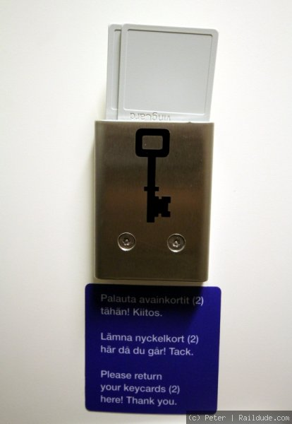 Key cards for the door