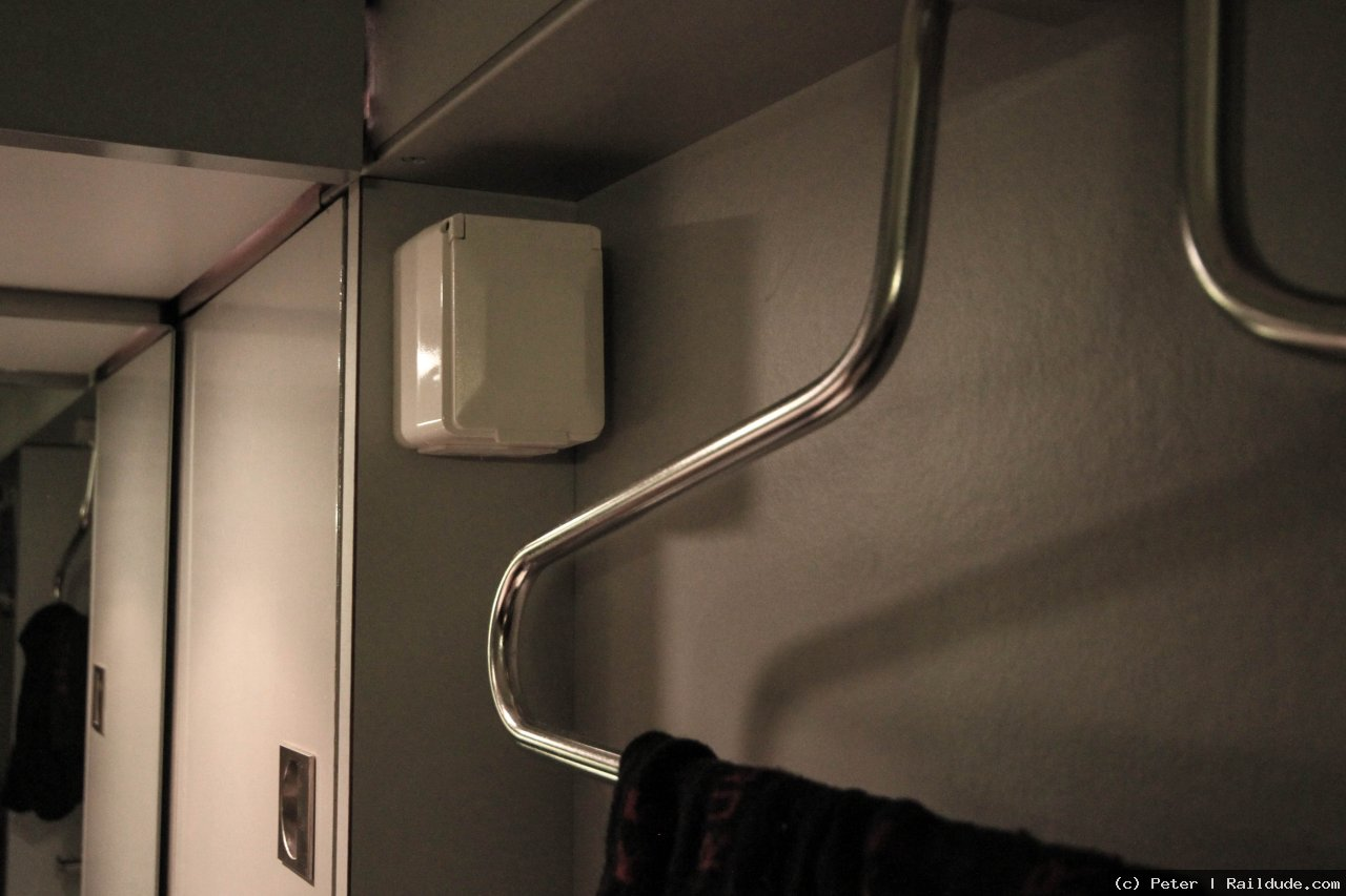 Power plug in the sleeper compartment