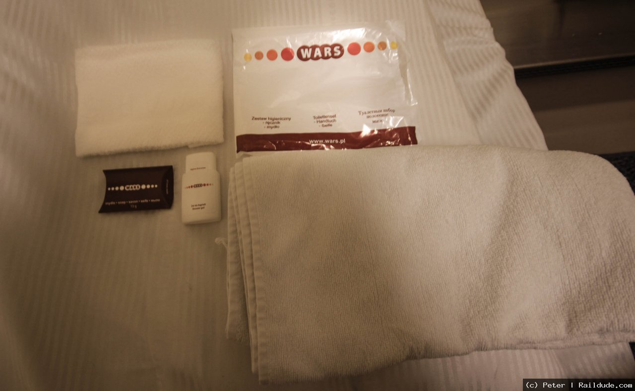 Towels provided in the sleeper