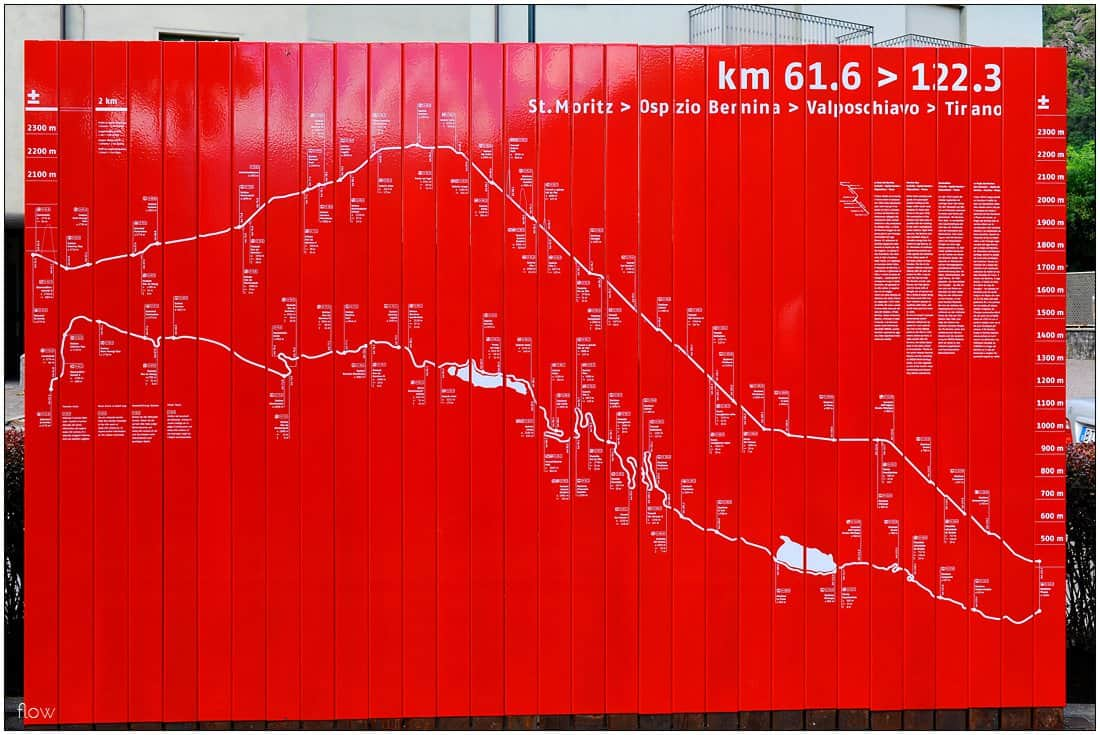 Bernina Railway map at Tirano.