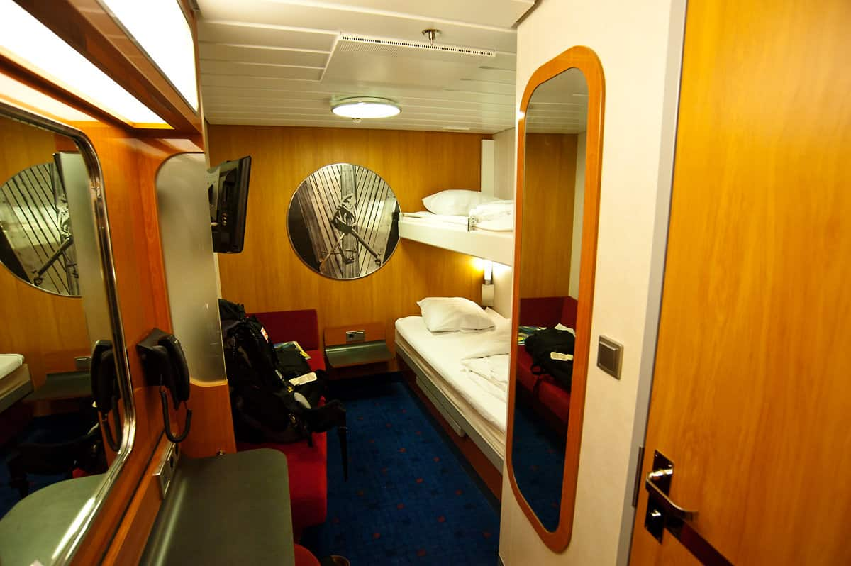 Inside cabin with two berths but booked for single occupancy.