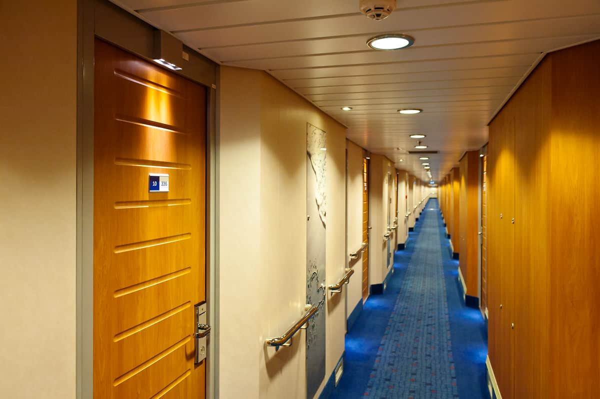 Corridor to the cabins on deck 10.