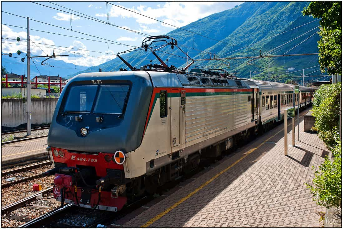 Trenord train to Milano Centrale at Tirano station.