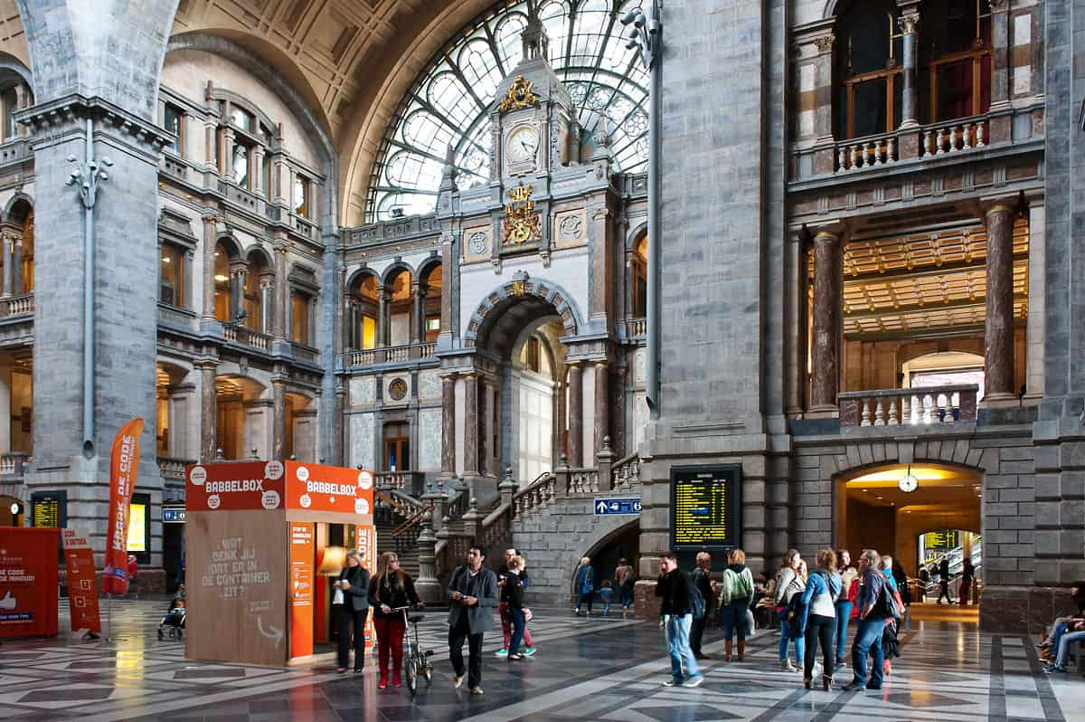 One of my favourite stations: Antwerpen Centraal.