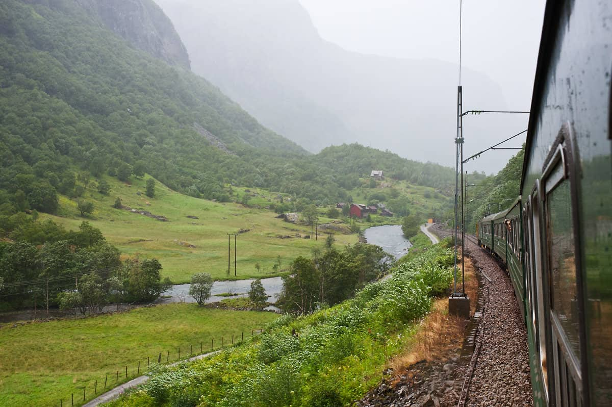 When travelling to Flåm, make sure you take a seat on the left hand side, if possible at an opening window.