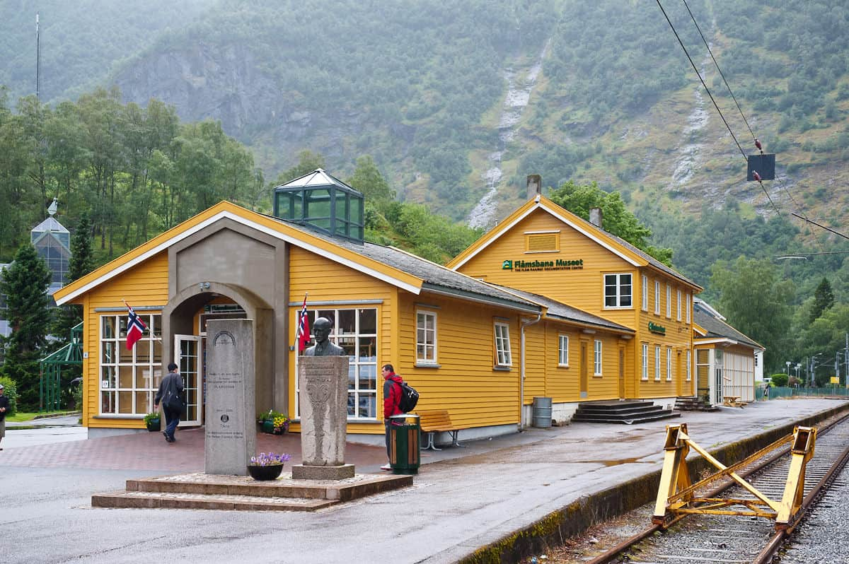 The old station building in Flåm now houses the railway museum.