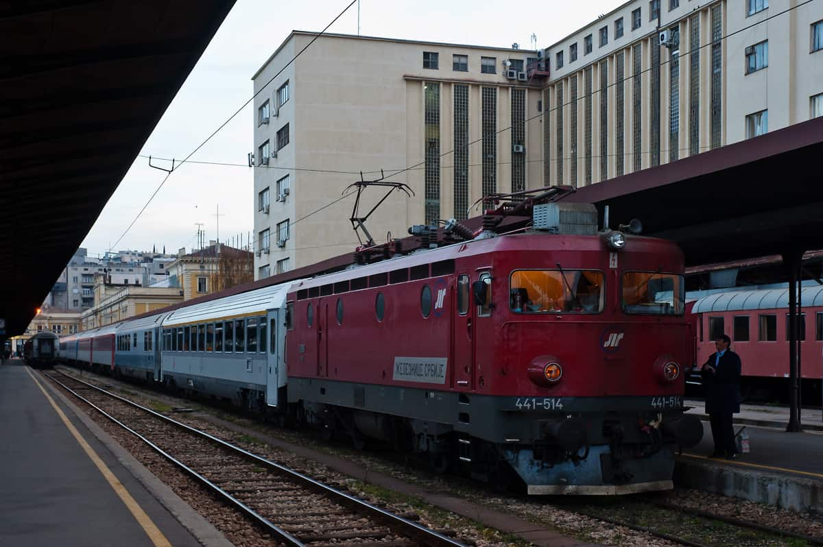 Eurocity Avala ready to depart from Belgrade central station. Back in 2011 it consisted of Czech and Serbian coaches and ran to/from Prague instead of Vienna.