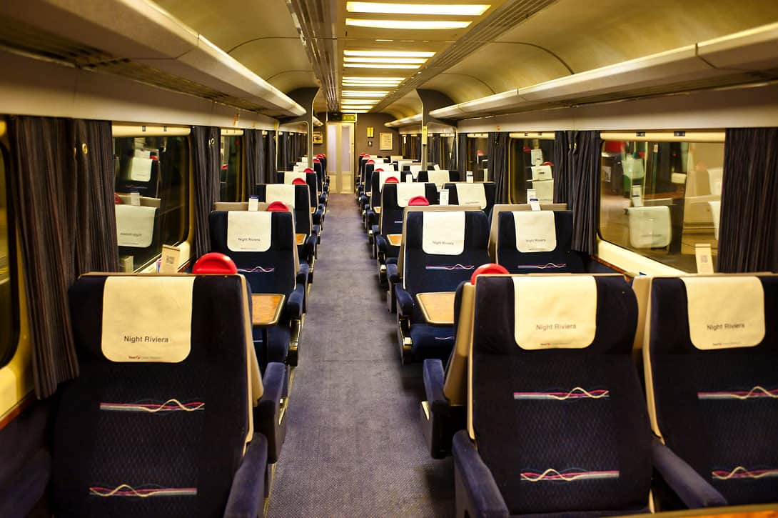 2nd class interior on the Night Riviera.