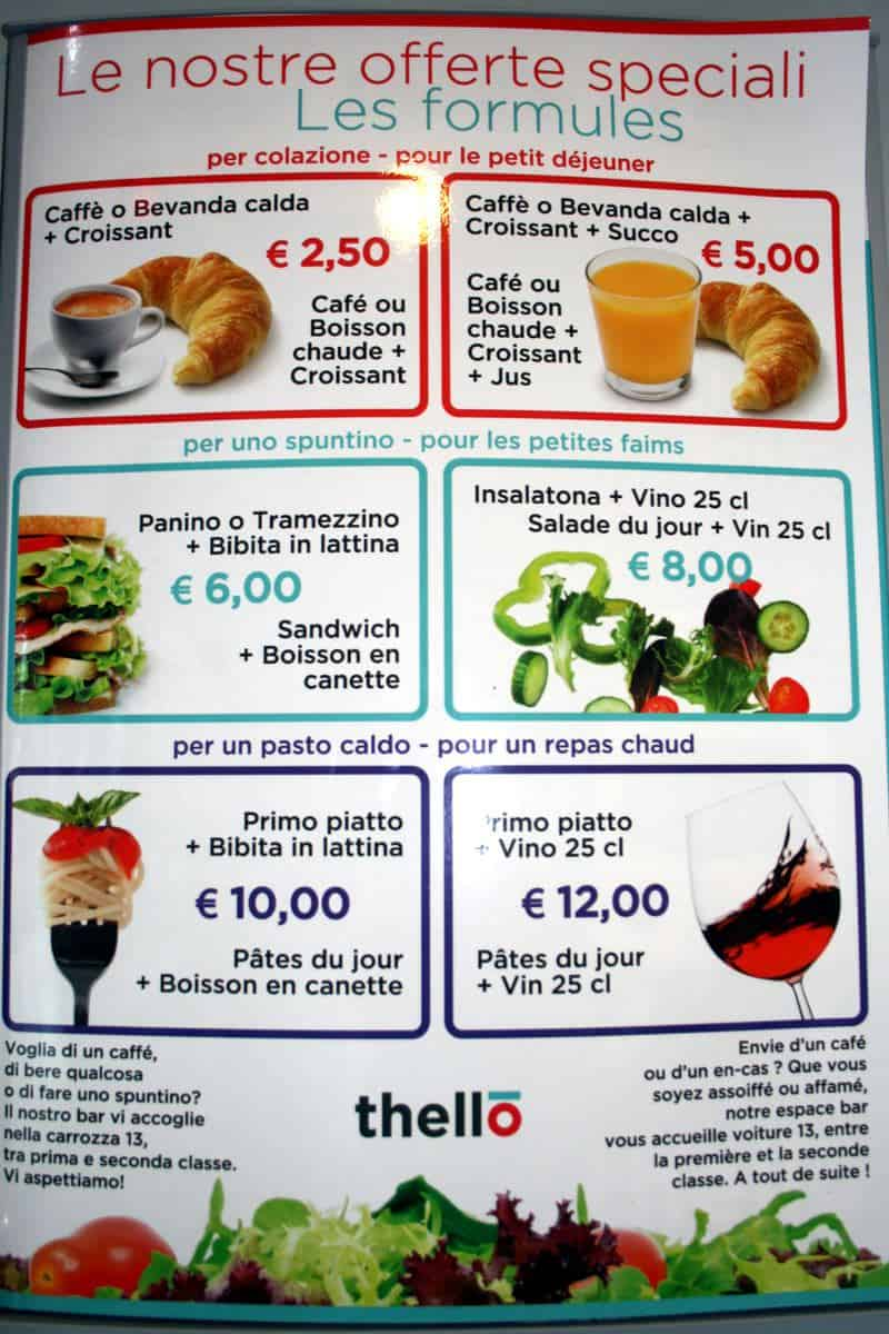 Thello menu