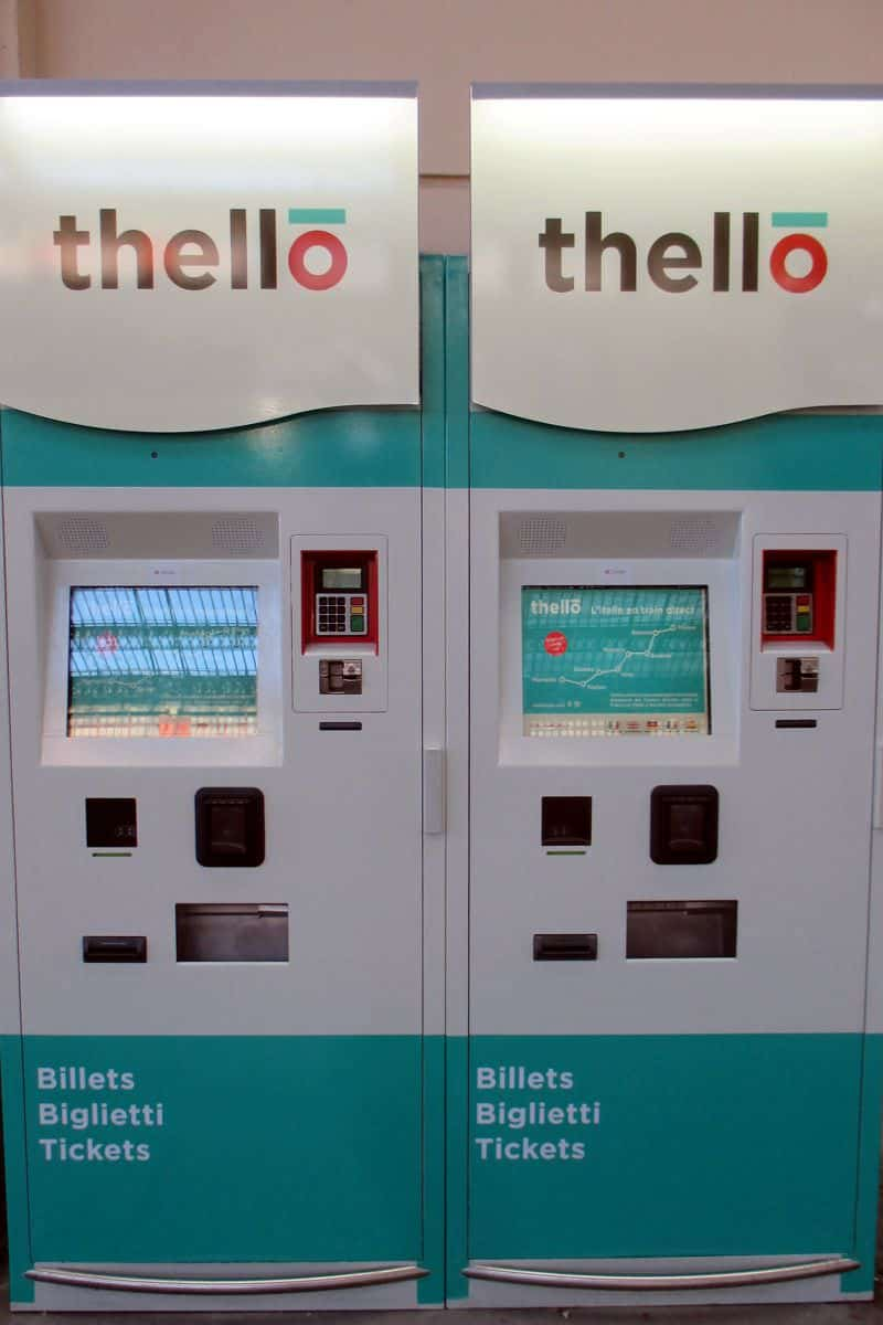 Thello ticket vending machine at Marseille Saint-Charles