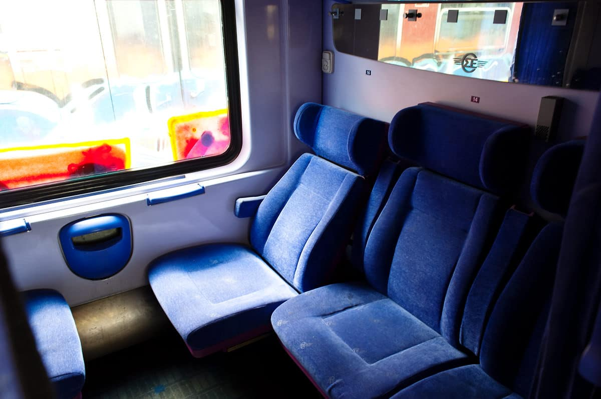 Sometimes a 1st class coach runs instead of a 2nd class coach - the compartments are quite similar but offer more room.