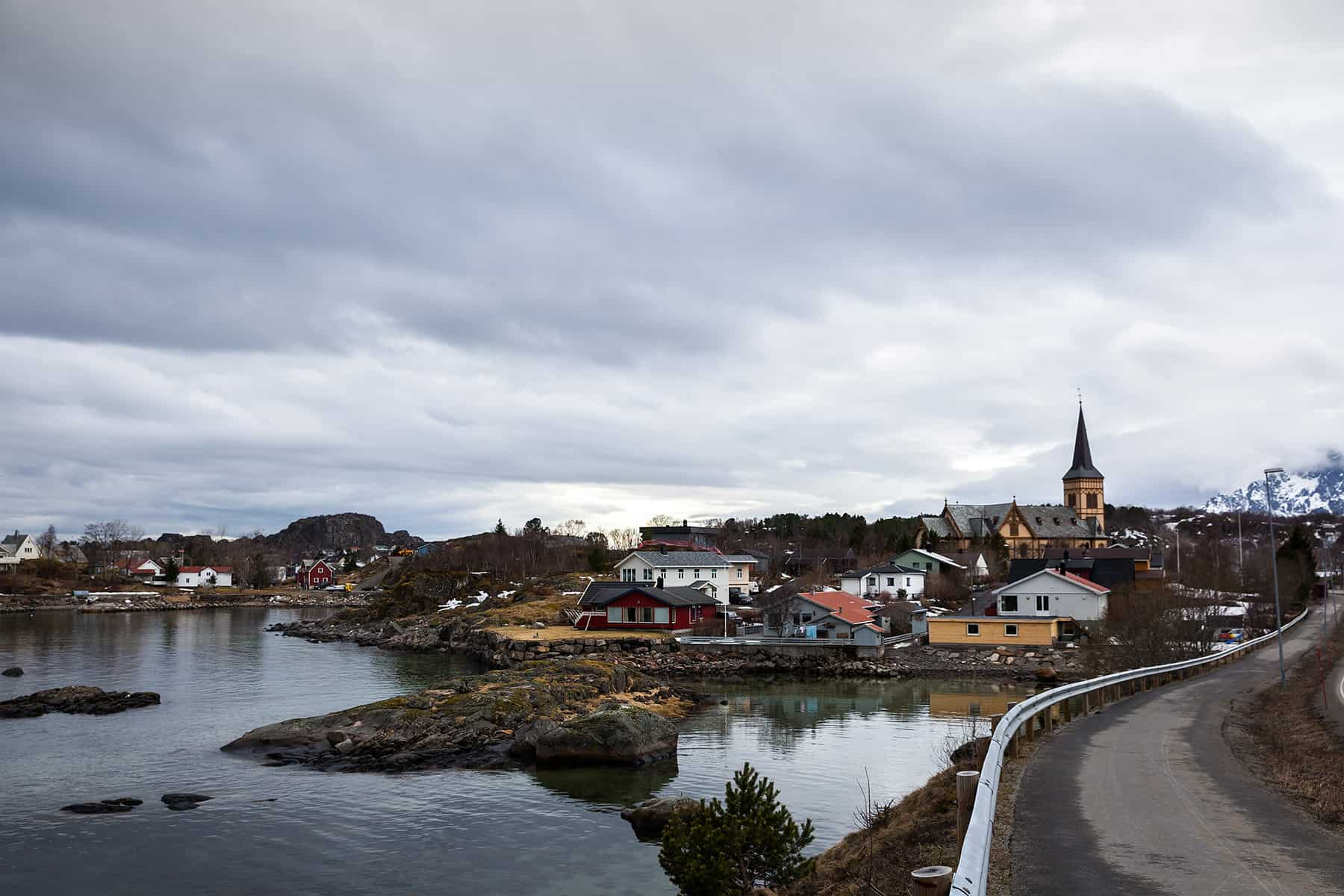 A view of the village of Kabelvåg.