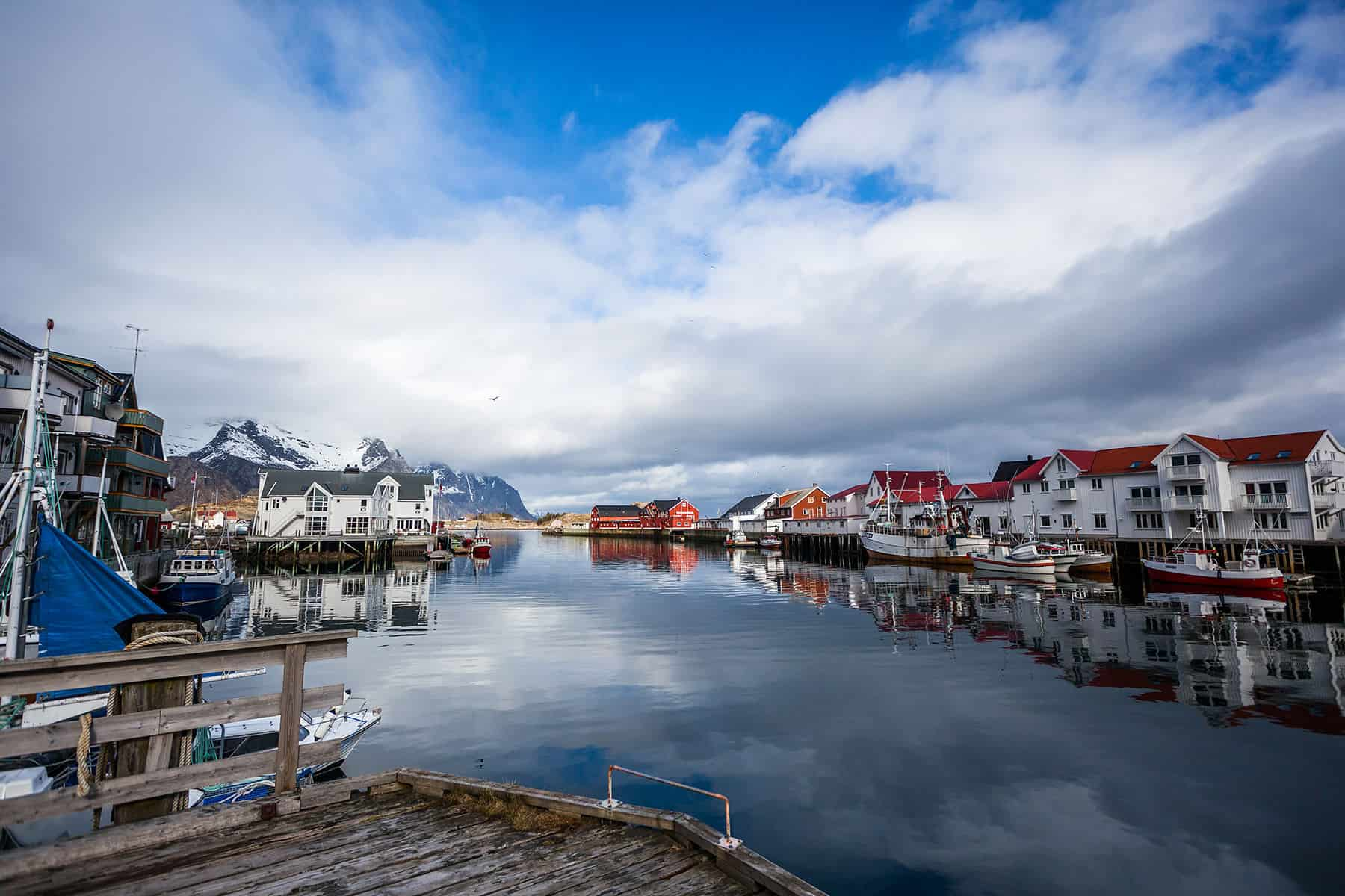 In the heart of the small village of Henningsvær. Definitely an idyllic place.