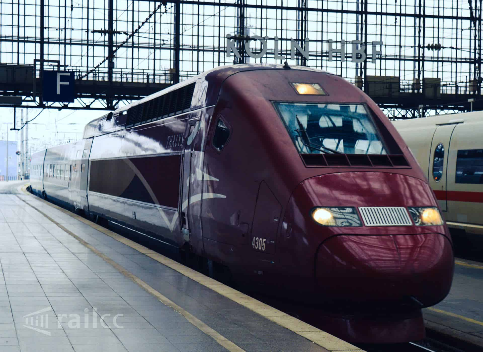 Thalys train entering Cologne main station