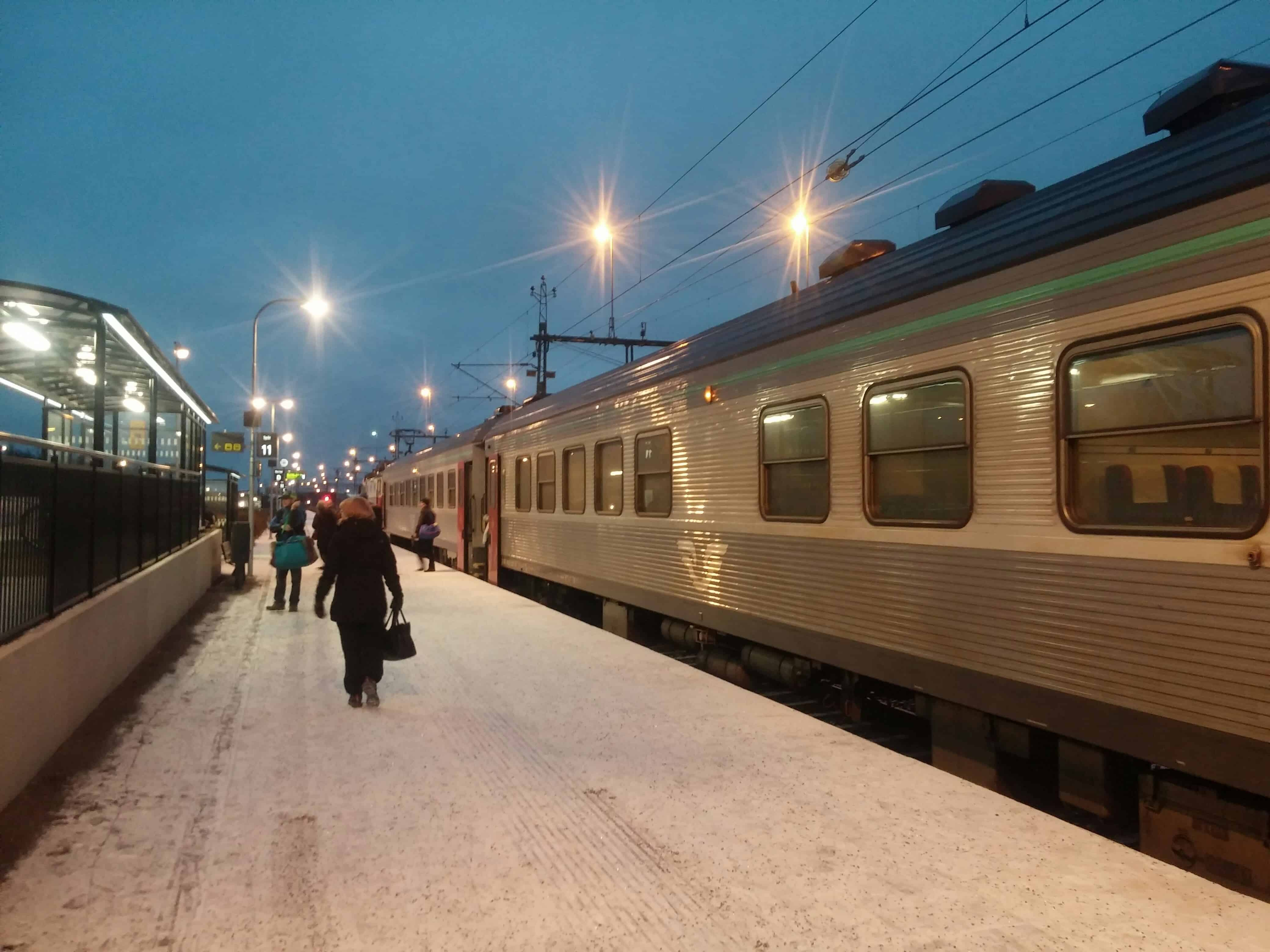 Night train from Stockholm to Kiruna