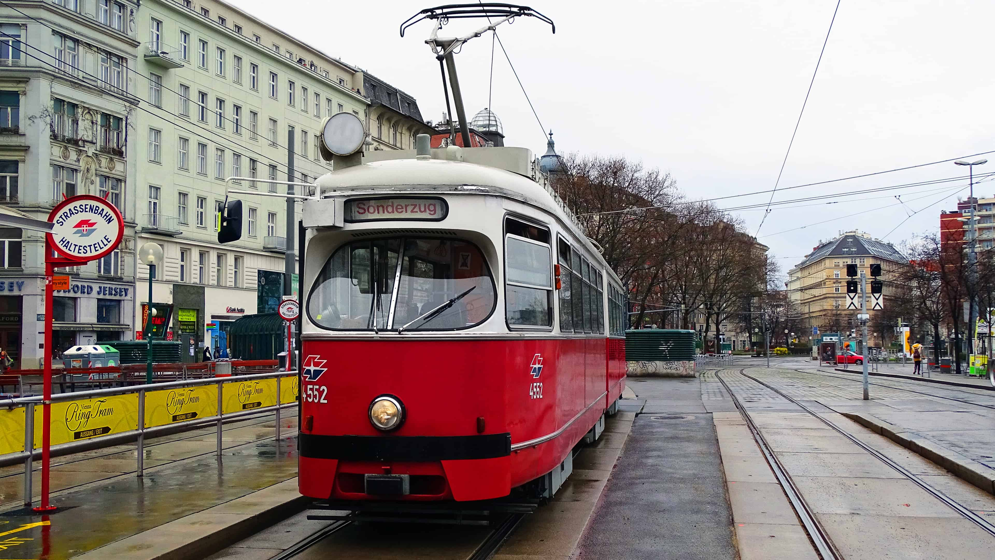 Trams throughout Vienna