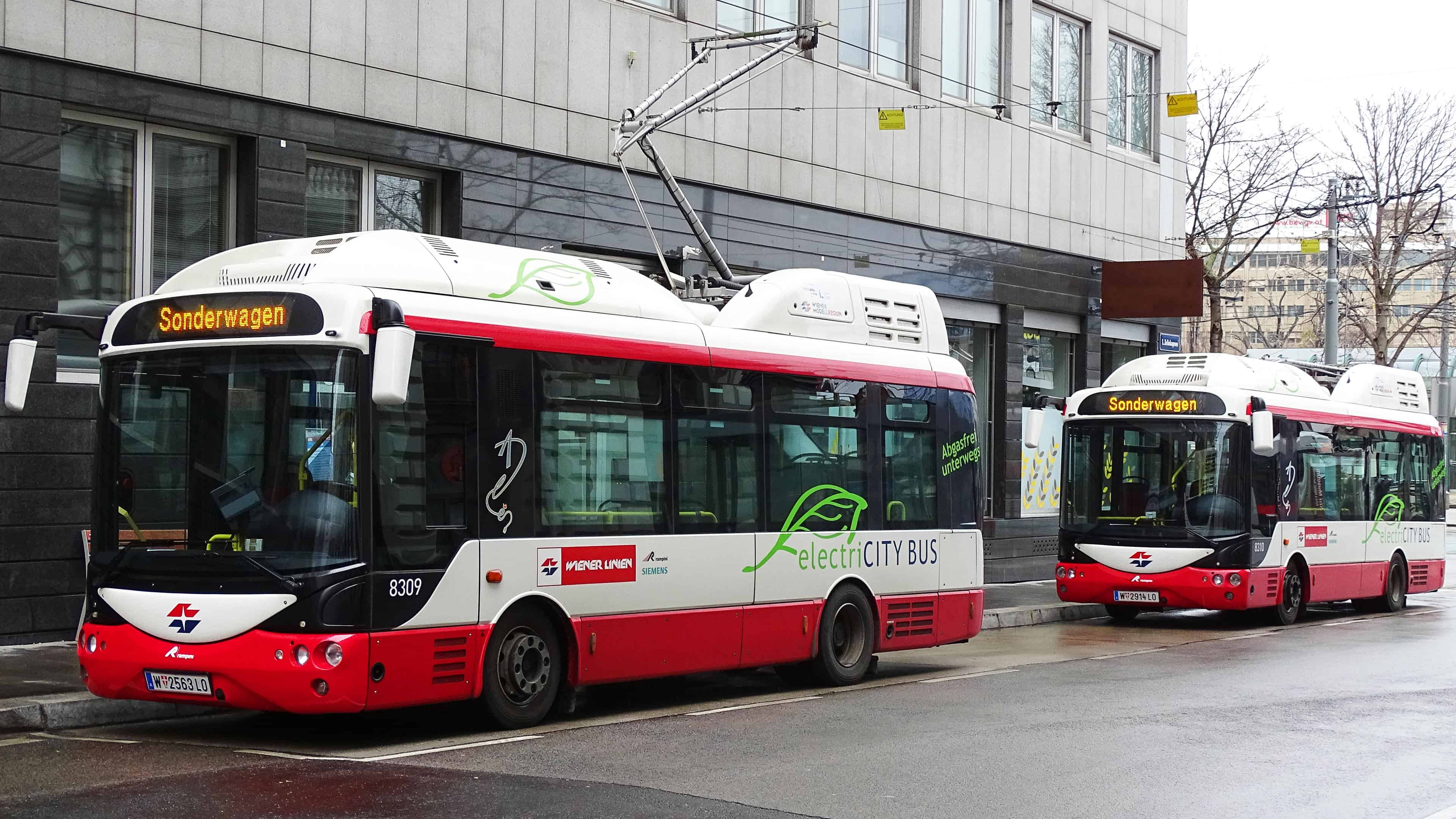 New electric buses in Vienna