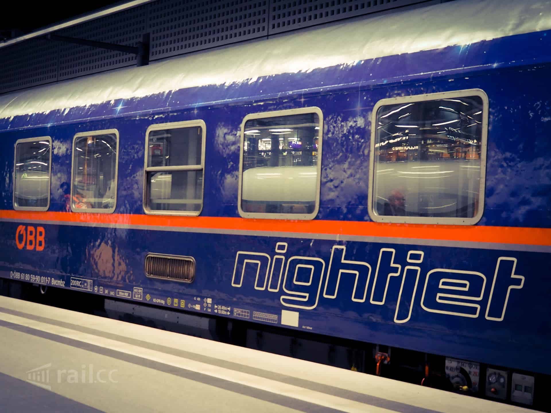 Nightjet train in Berlin main station