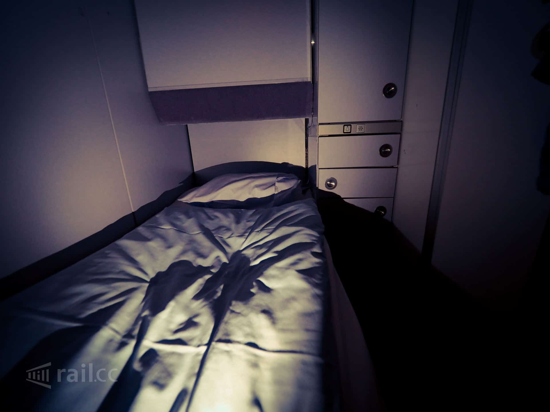 Nightjet sleeper compartment
