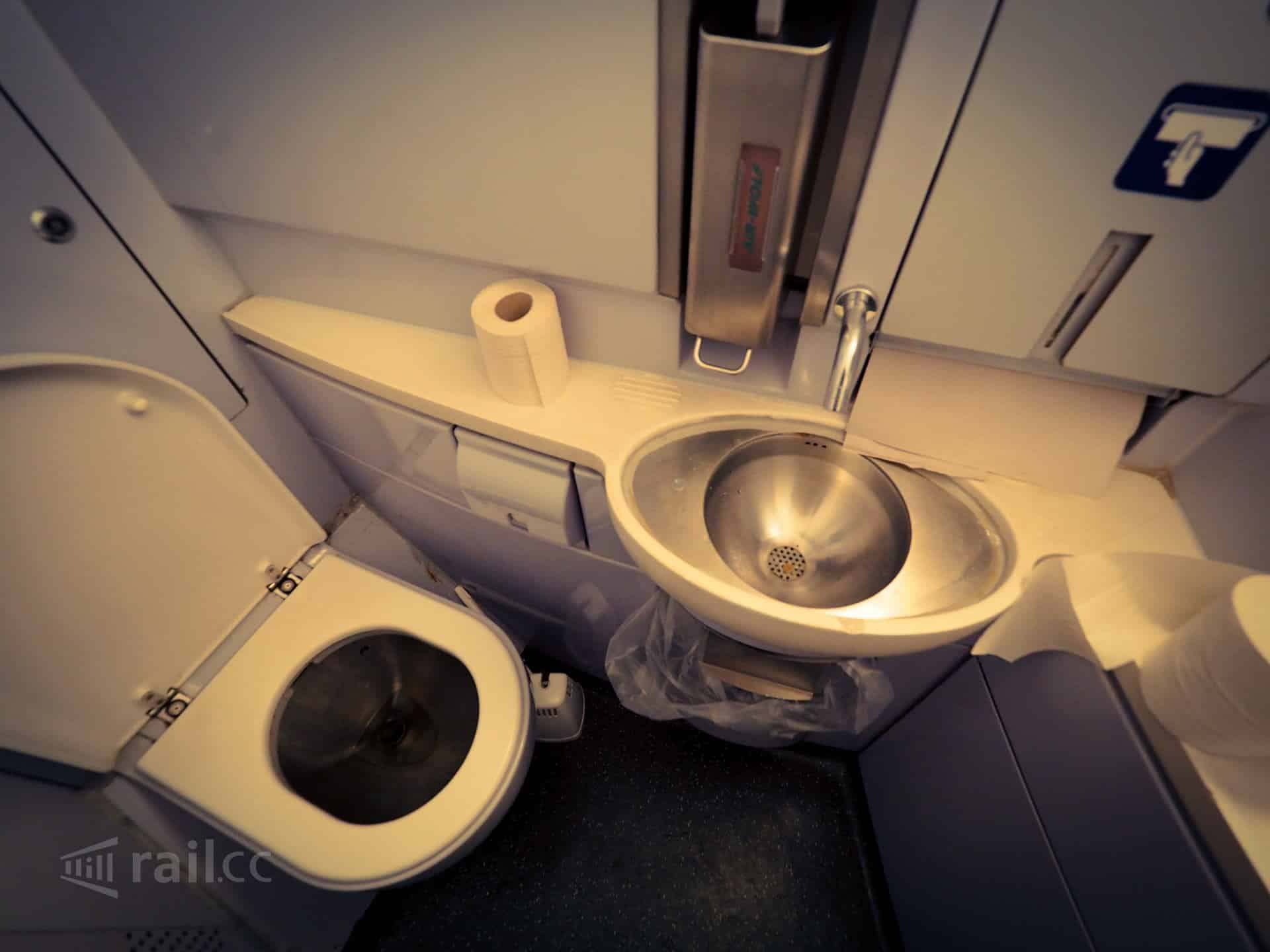 Toilet in the Nightjet sleeper