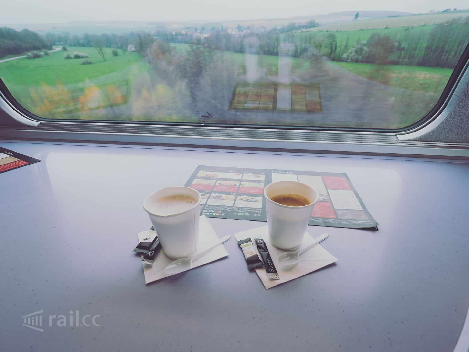 TGV - a coffee at high-speed