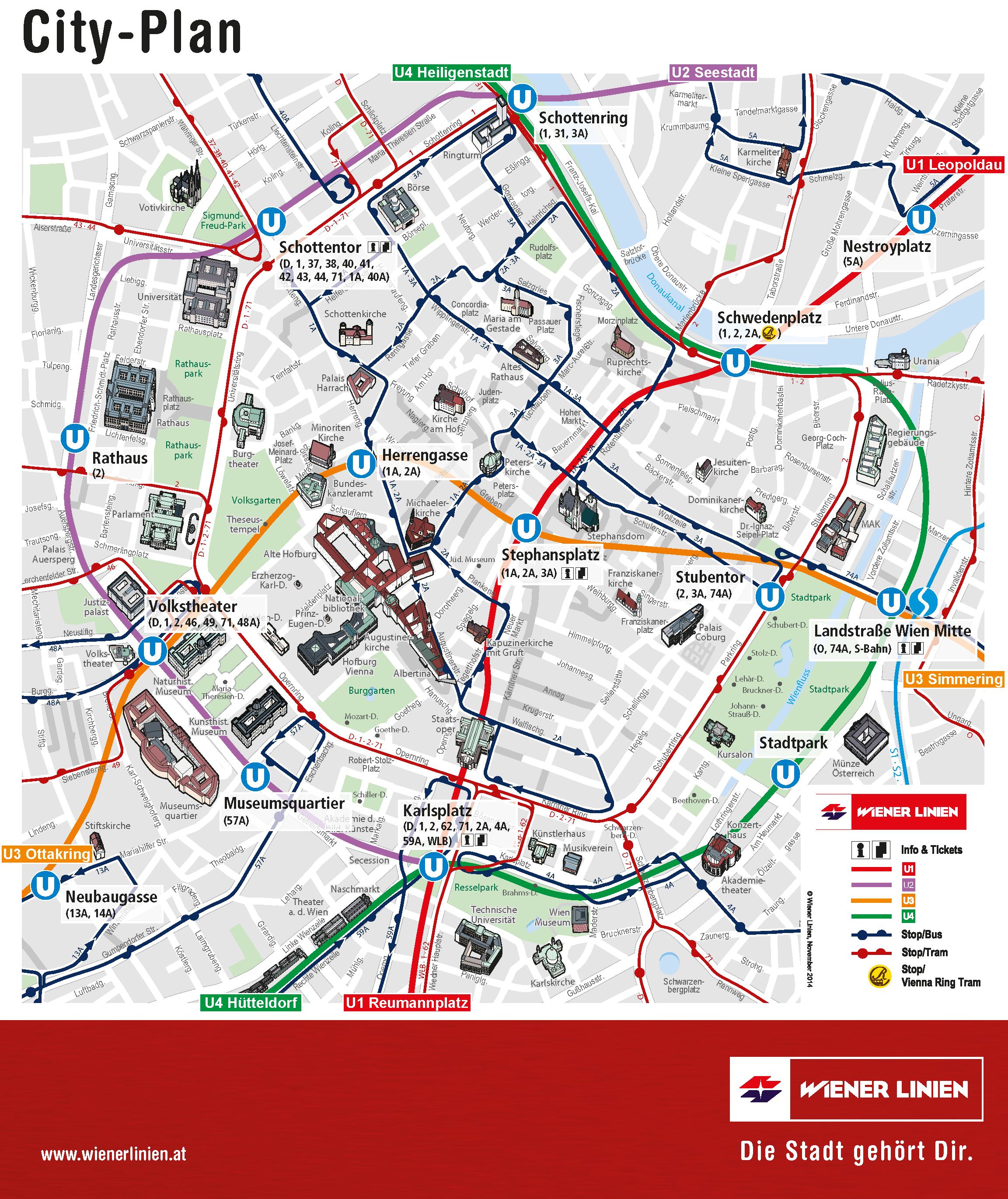 City plan Vienna