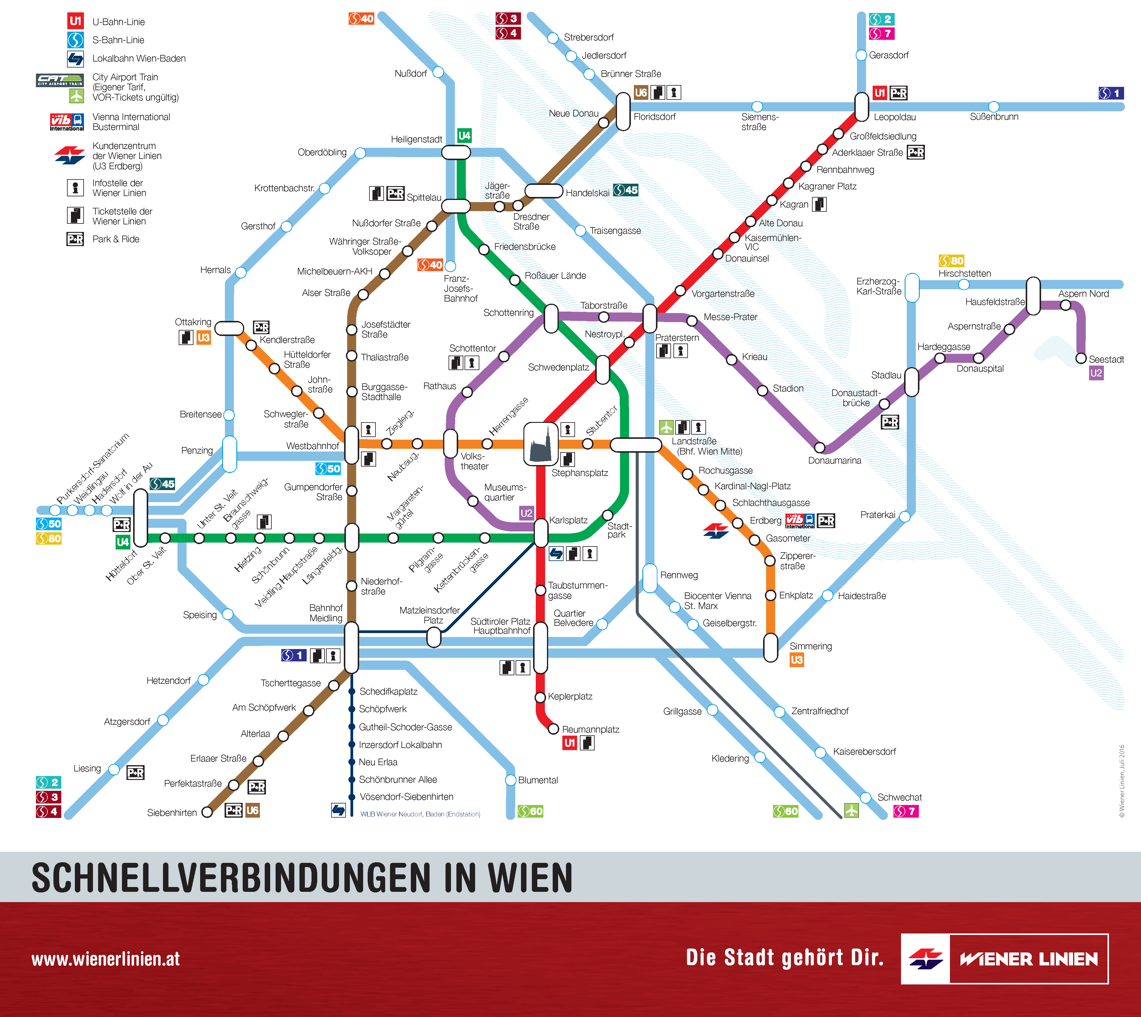 Wiener linien fast connections map