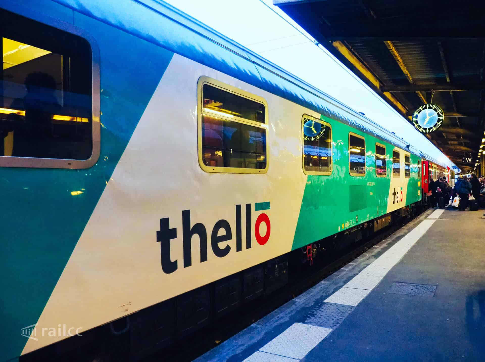 Paris to Venice by train: the Thello night train.