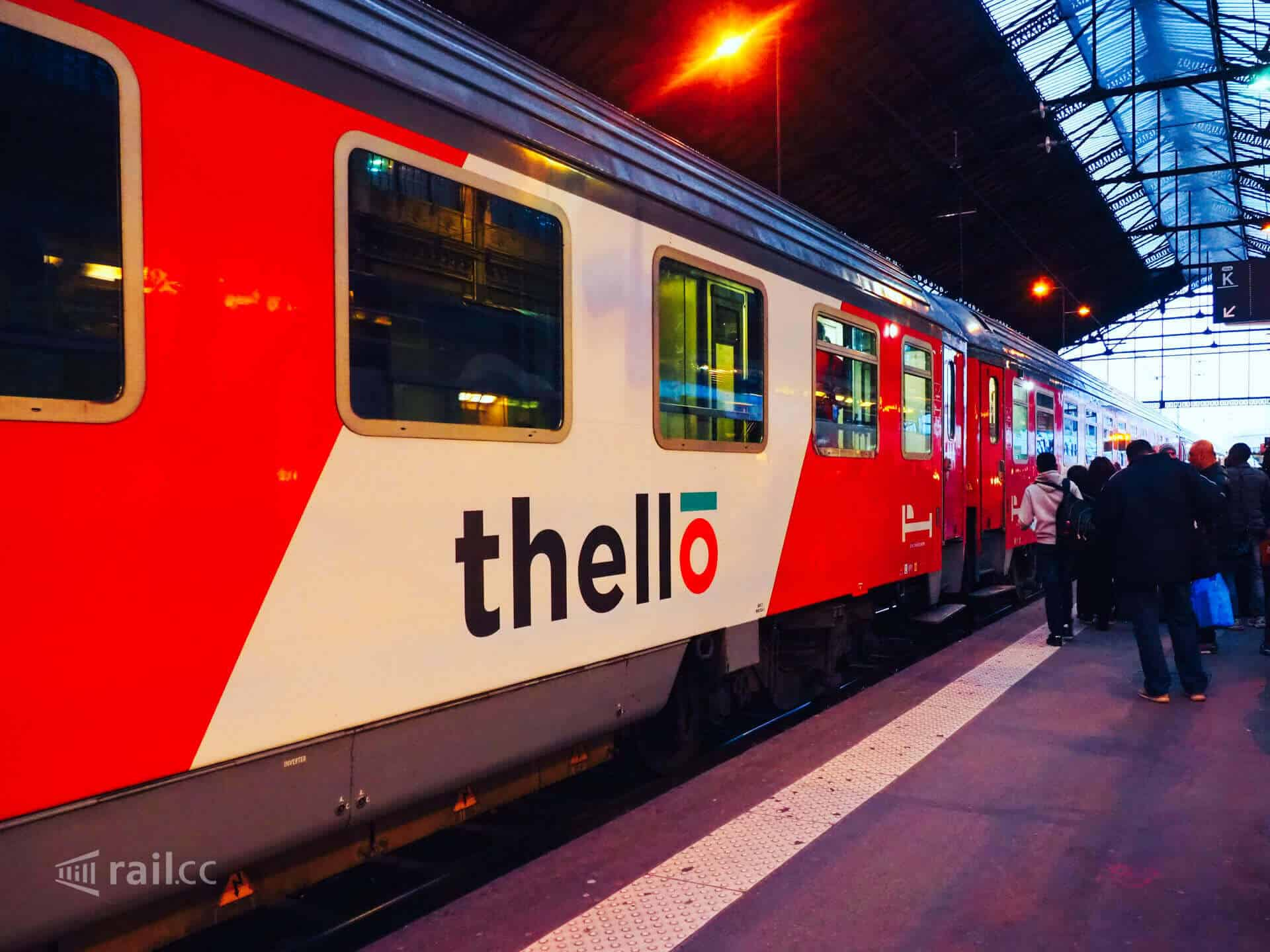 Thello Paris to Venice night train in Paris Gare de Lyon.
