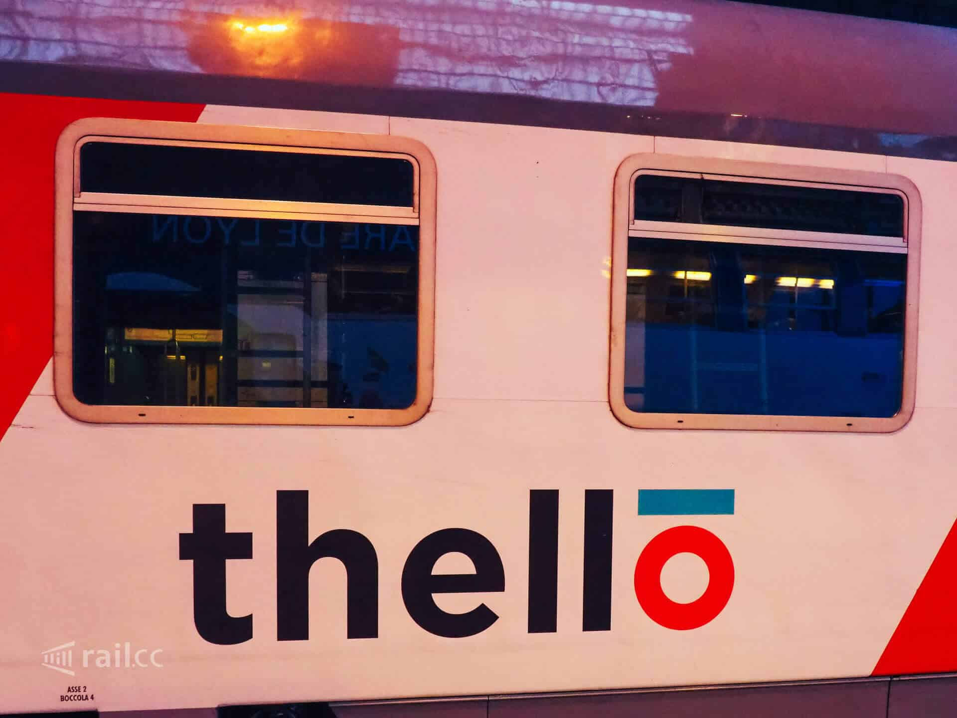 Thello train couchette car.