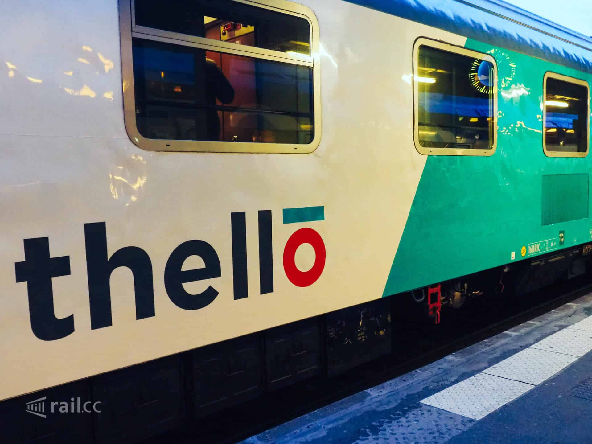 Thello form Venice to Paris - the direct overnight train.