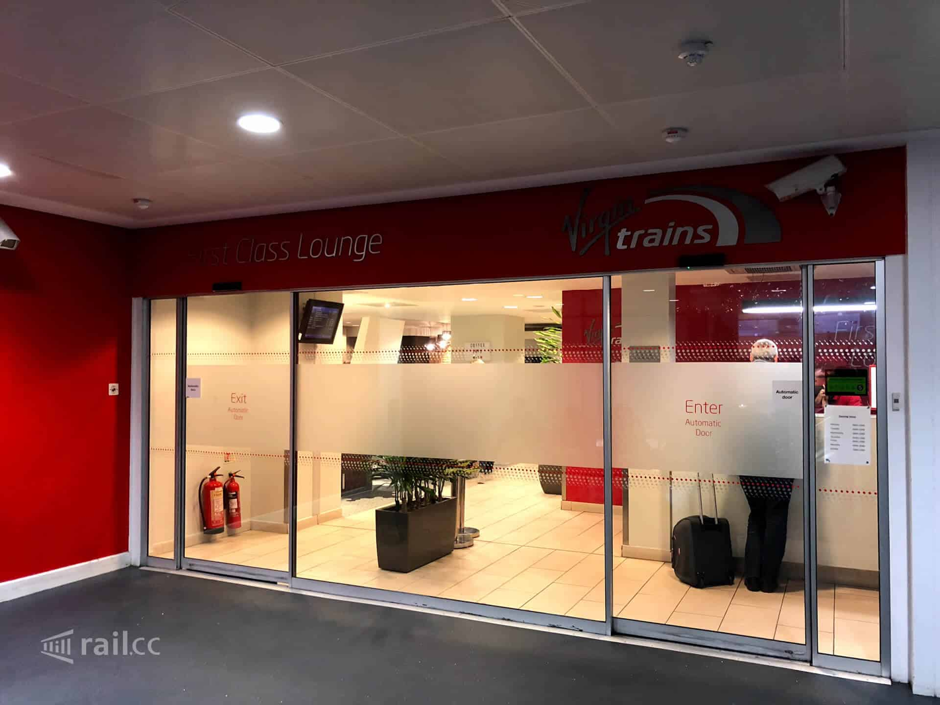 Virgin First Class Lounge in London Euston railway station