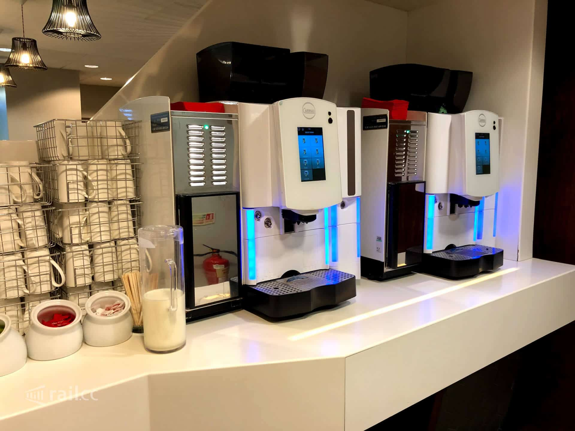 Grab a Latte, Capuccino, Hot Chocolate or Americano from one of the coffee machines found in the lounge