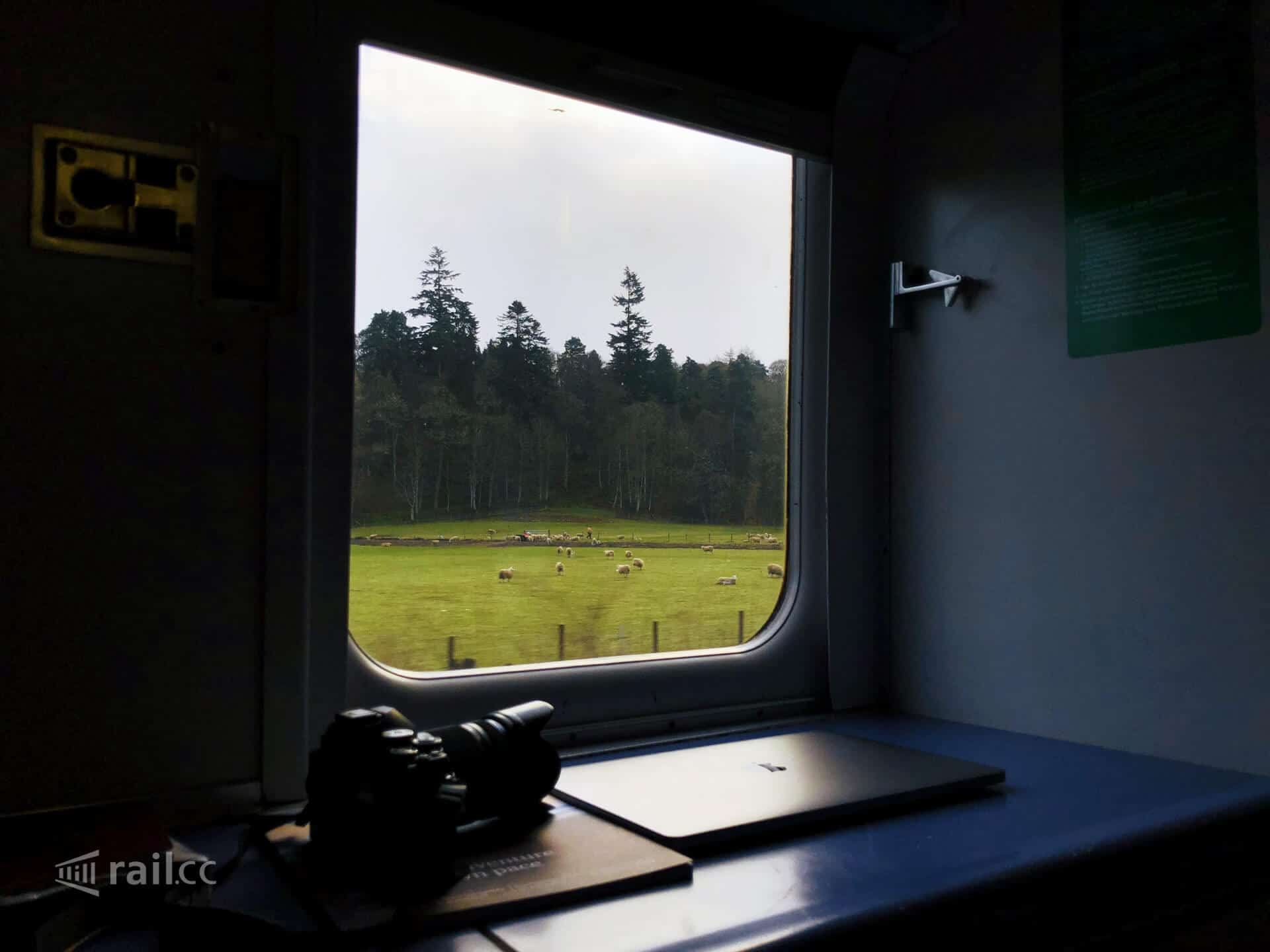 Morning views out of the Caledonian Sleeper