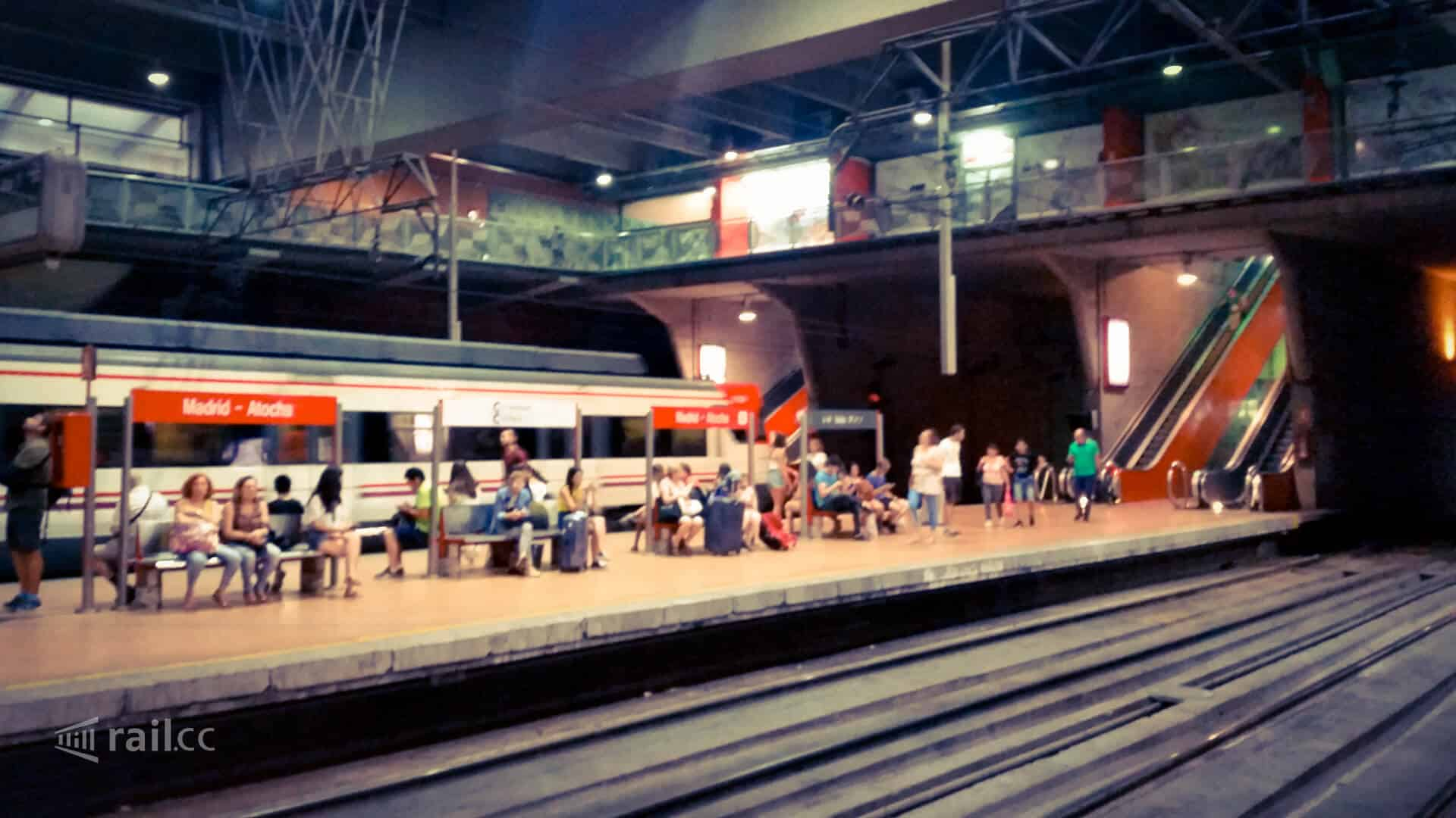 The Cercanias train stop station in Madrid-Atocha