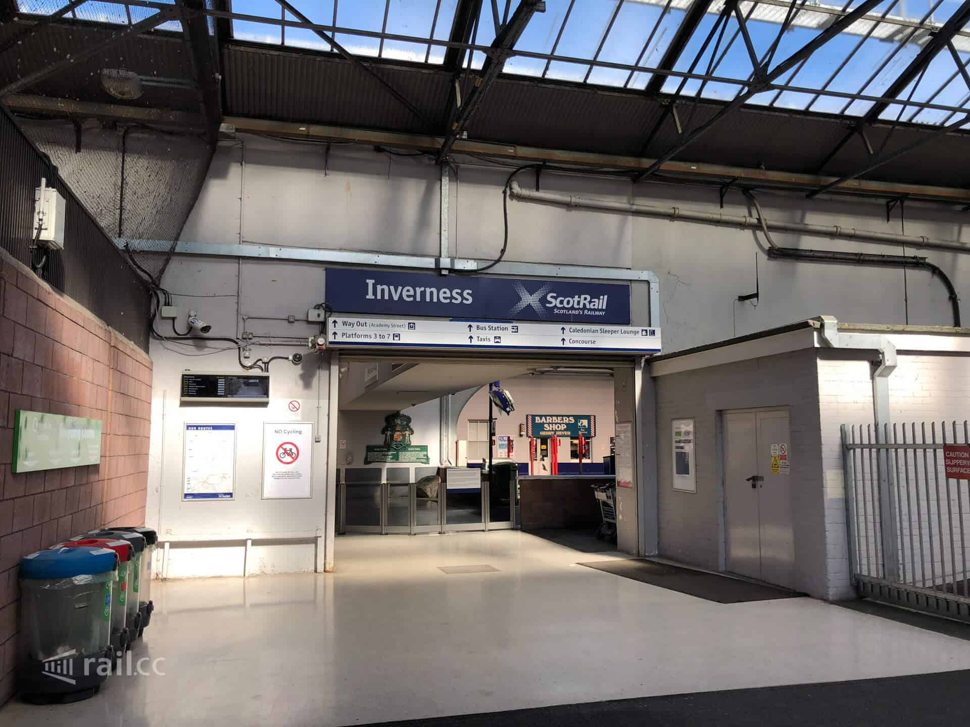 Inverness train station-exit