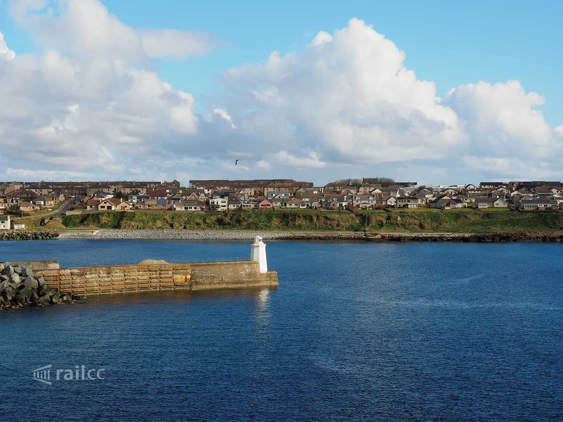 Port of Wick from above