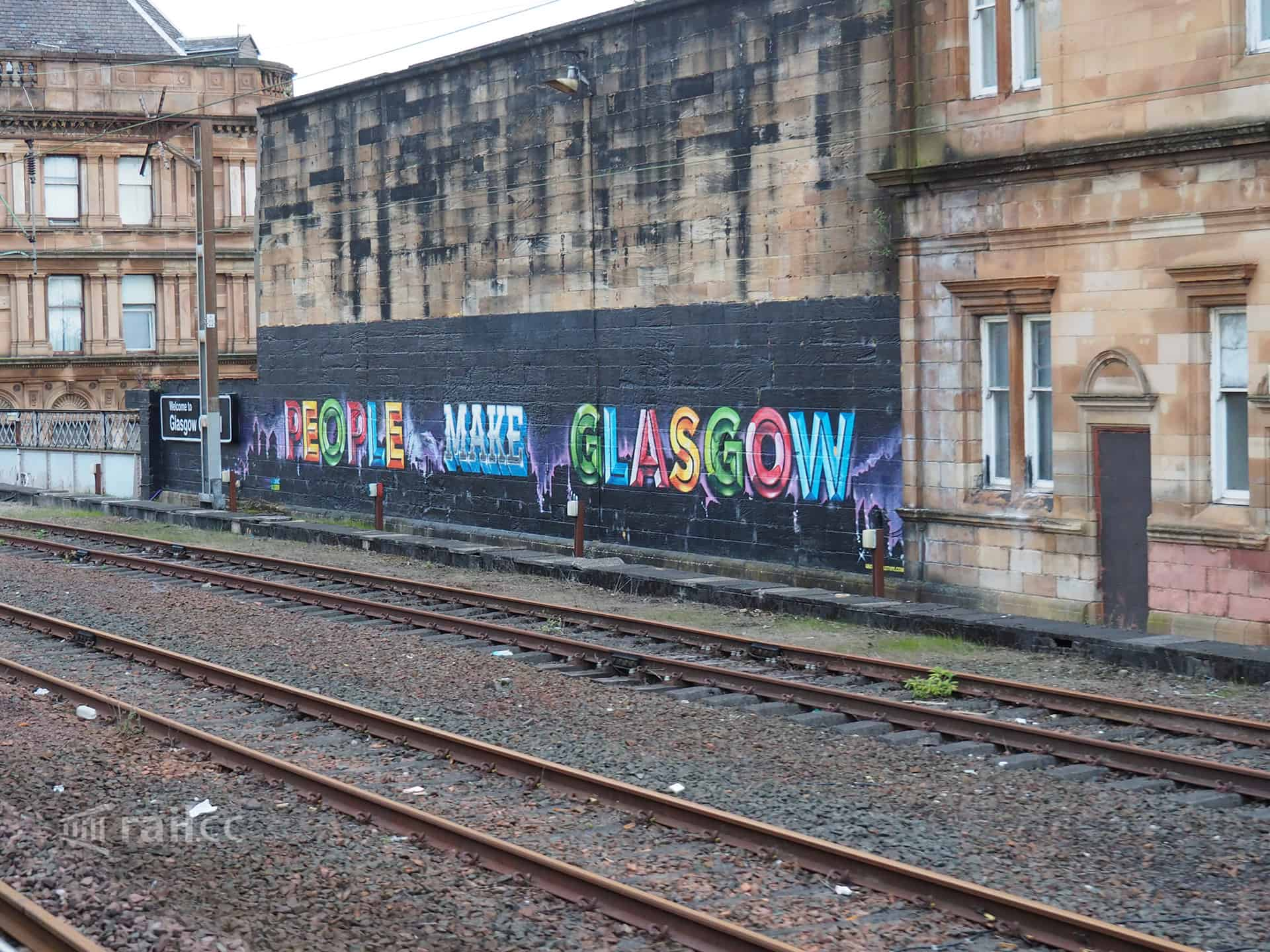 Nice graffiti while approaching Glasgow
